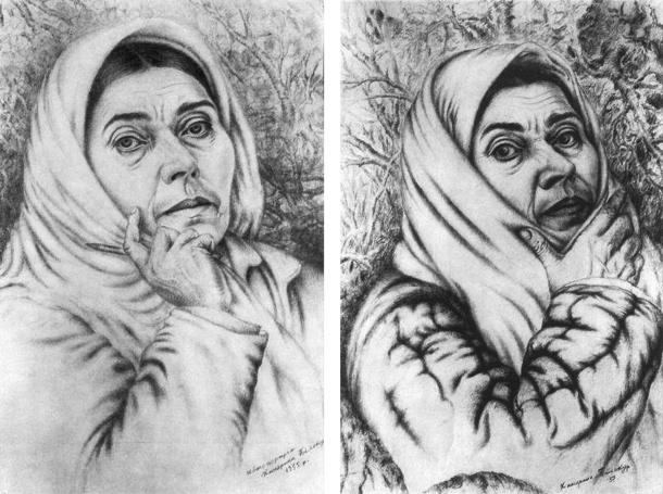 Катерина Білокур автопортрет