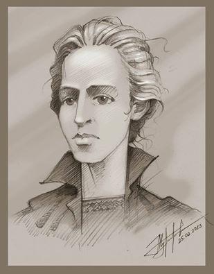 Леся Українка. Малюнок Юрія Журавля