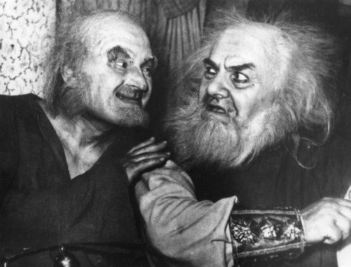 Крушельницький - король Лір (праворуч)