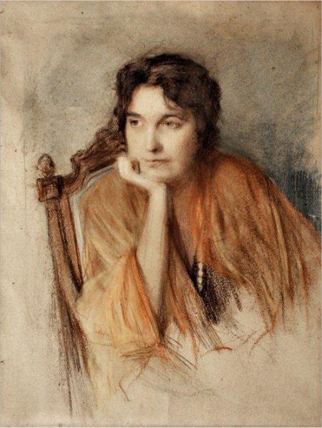 Вероніка Черняхівська, портрет О.Мурашко, 1918