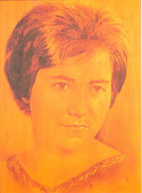 Донька Дзвінка. 1964р. Дерево, випалювання
