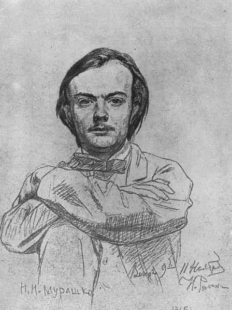 Микола Мурашко. Портрет Іллі Рєпіна 1866р.