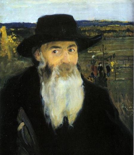 Старий вчитель (м.Мурашко). Портрет О.Мурашка 1906р.