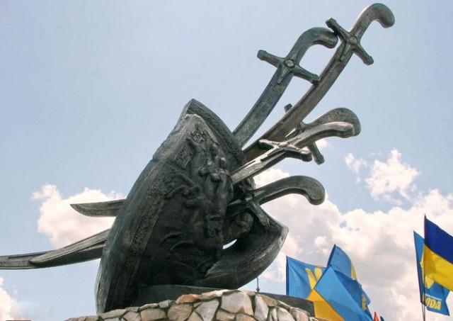 пам'ятний знак на полі битви
