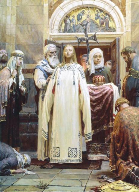 Хрещення княгині Ольги,  Сергій Кирилов