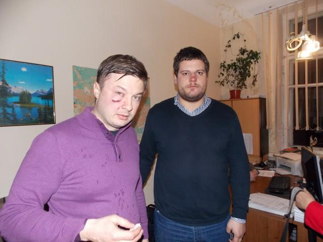 Андрій Іллєнко та Сидір Кізін - побиття свободівців